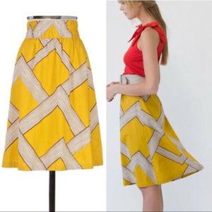 Anthropologie Barila Mid Century Modern Skirt M
